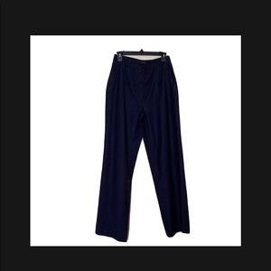 Chanel Navy  High Waisted Wool Silk Cashmere Pants